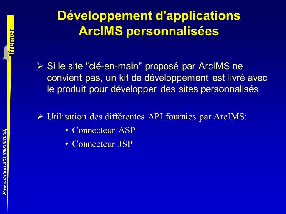 Développement d applications ArcIMS personnalisées