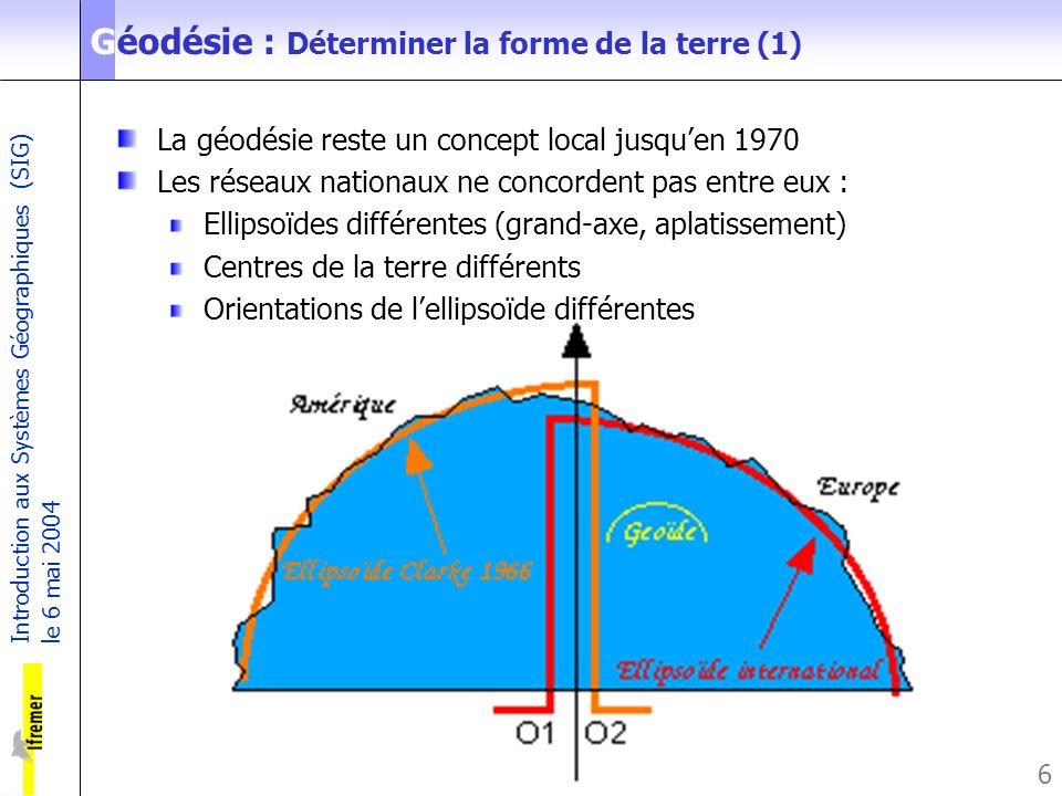 Géodésie : Déterminer la forme de la terre (1)