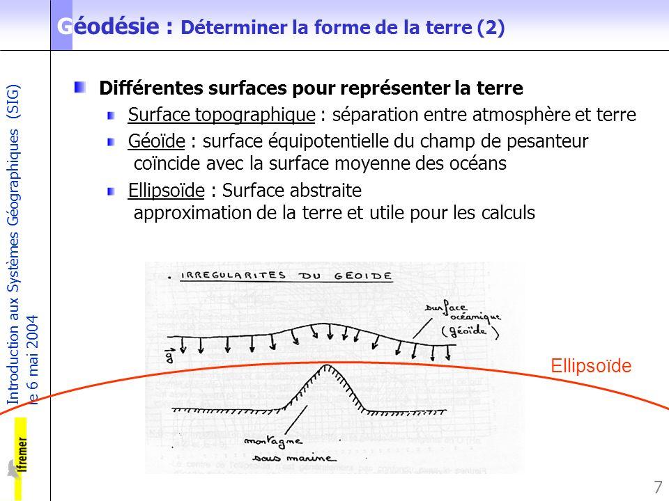 Géodésie : Déterminer la forme de la terre (2)