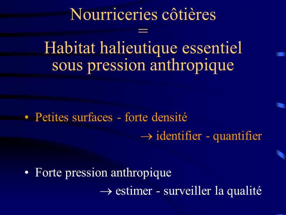 Nourriceries côtières = Habitat halieutique essentiel sous pression anthropique