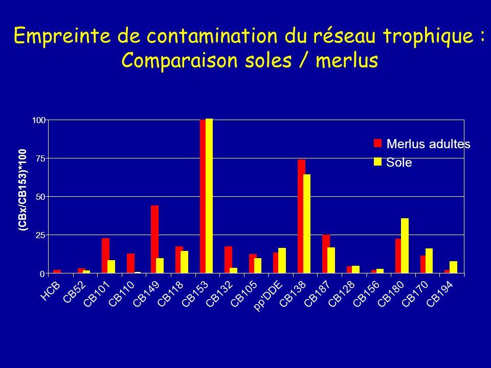Comparaison soles / merlus