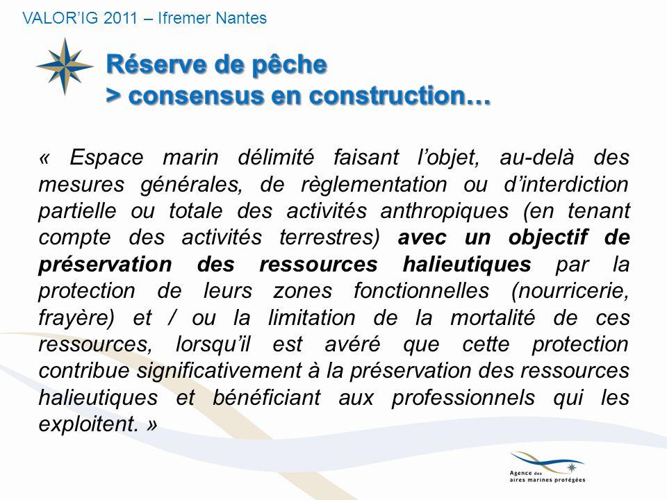 Réserve de pêche > consensus en construction…