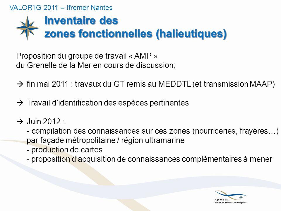Inventaire des zones fonctionnelles (halieutiques)