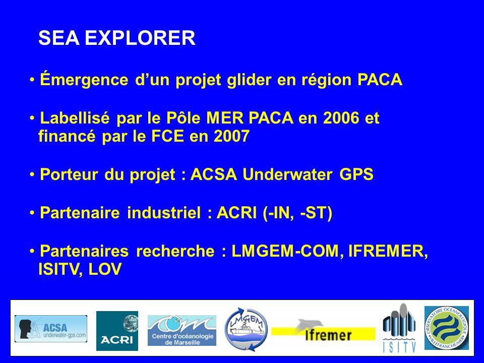 SEA EXPLORER Émergence d'un projet glider en région PACA