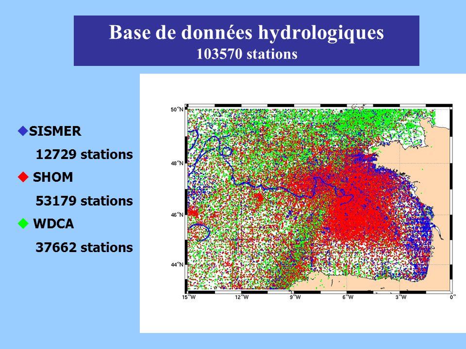 Base de données hydrologiques 103570 stations