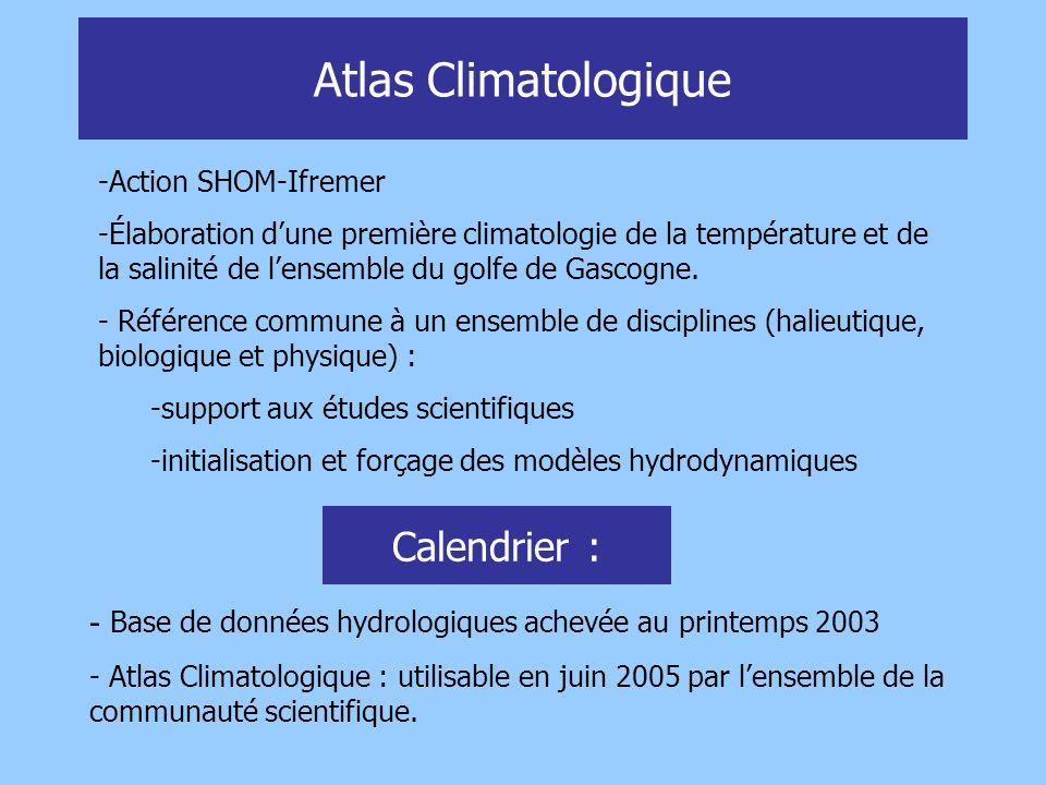 Atlas Climatologique Calendrier :