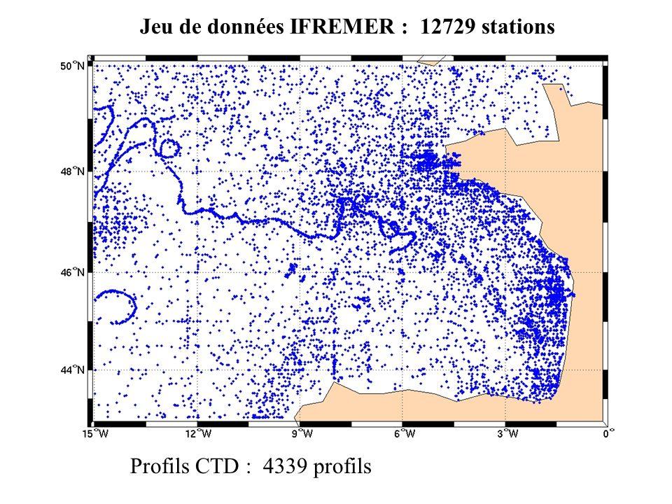 Jeu de données IFREMER : 12729 stations