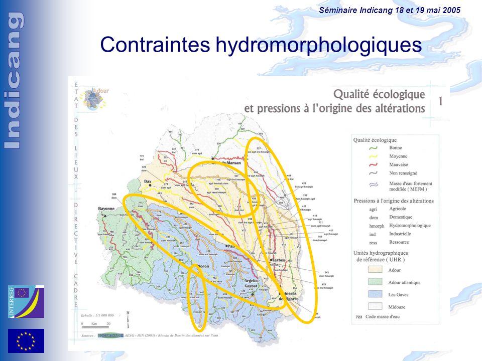 Contraintes hydromorphologiques