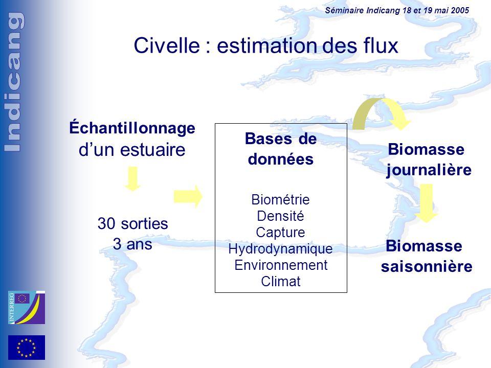 Civelle : estimation des flux