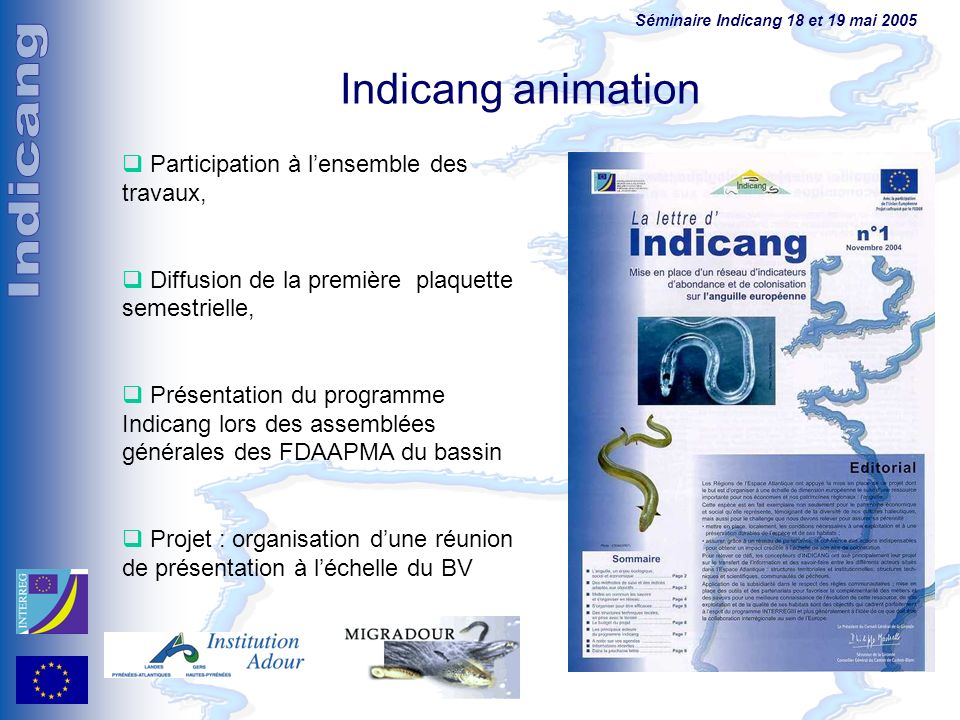 Indicang animation Participation à l'ensemble des travaux,