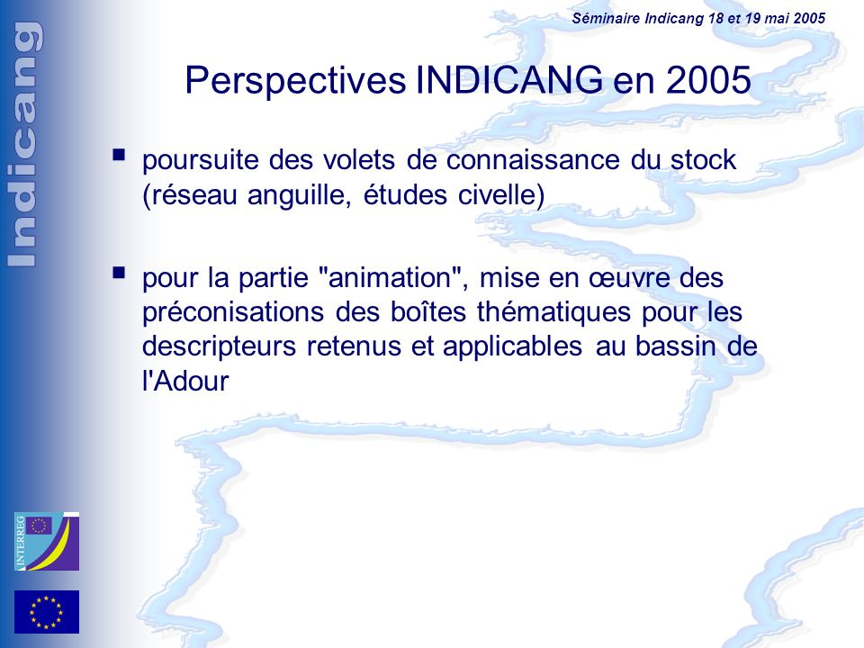 Perspectives INDICANG en 2005