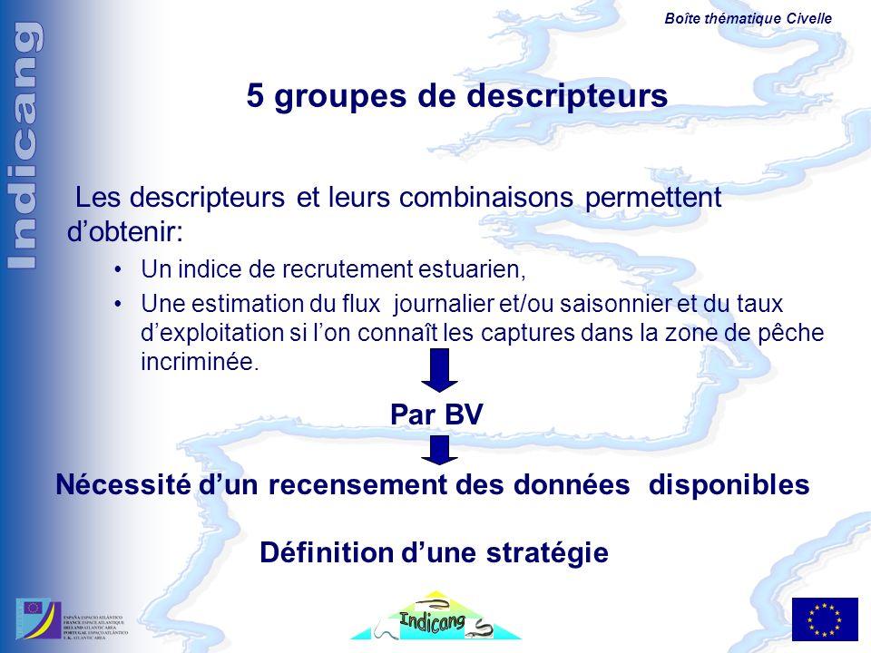 5 groupes de descripteurs