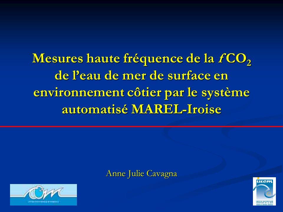 Mesures haute fréquence de la f CO2 de l'eau de mer de surface en environnement côtier par le système automatisé MAREL-Iroise