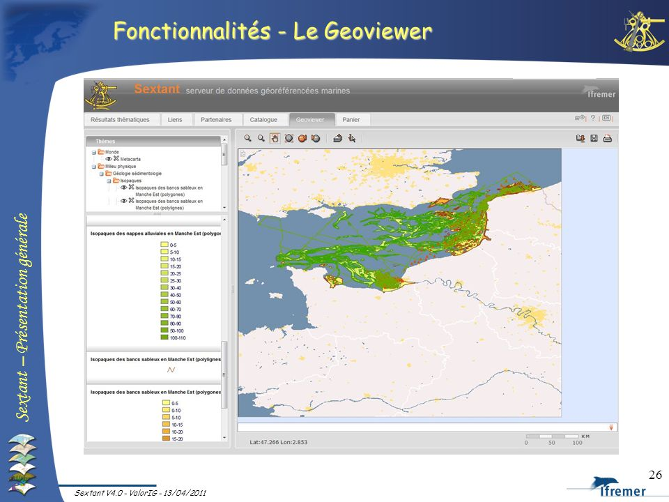 Fonctionnalités - Le Geoviewer