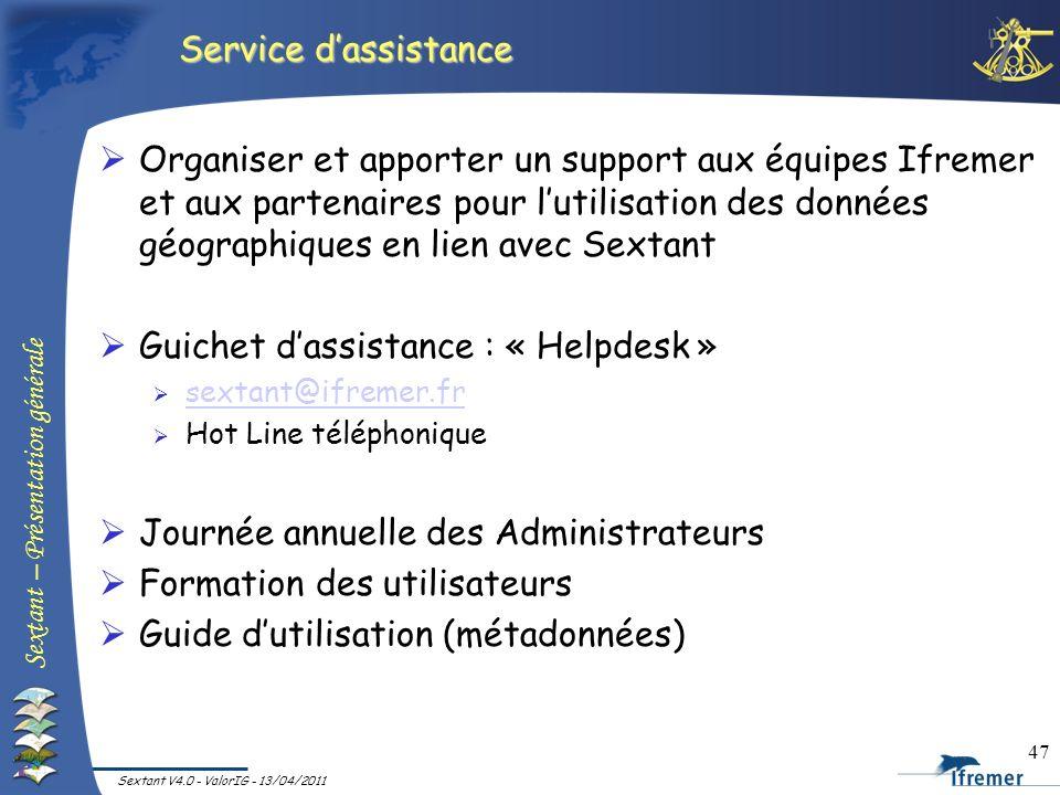 Guichet d'assistance : « Helpdesk »