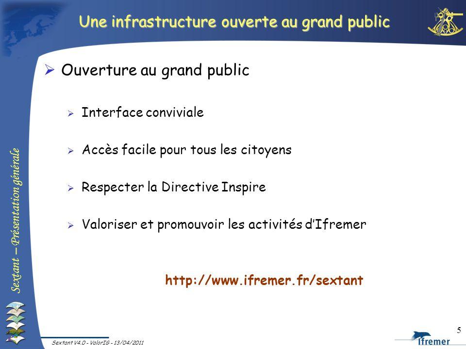 Une infrastructure ouverte au grand public