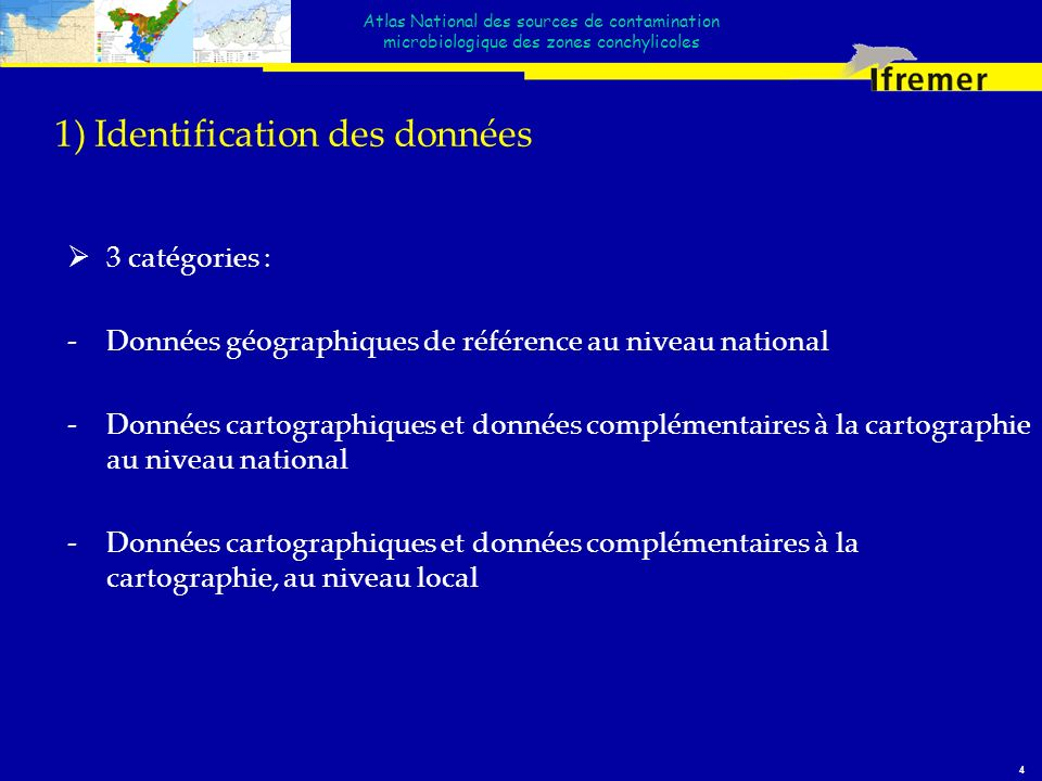 1) Identification des données