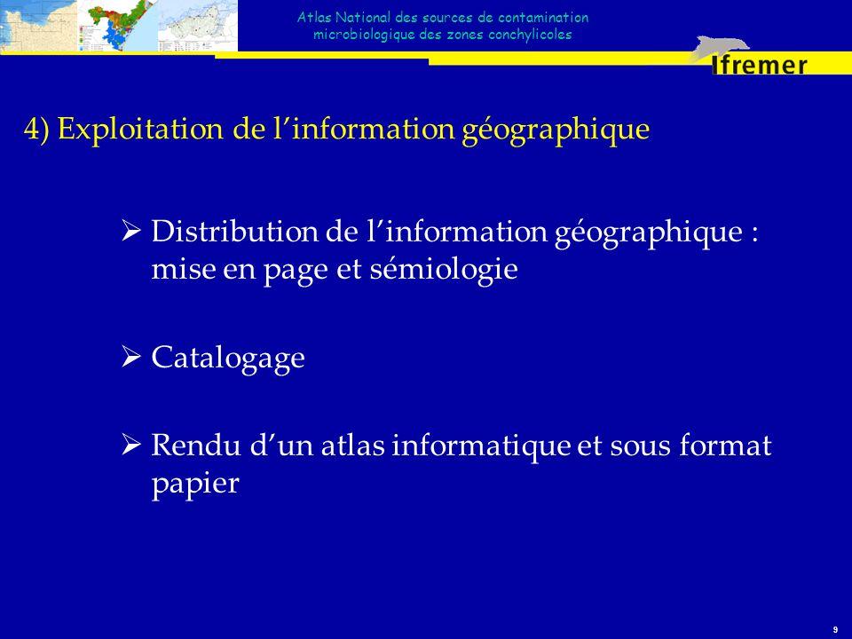 4) Exploitation de l'information géographique