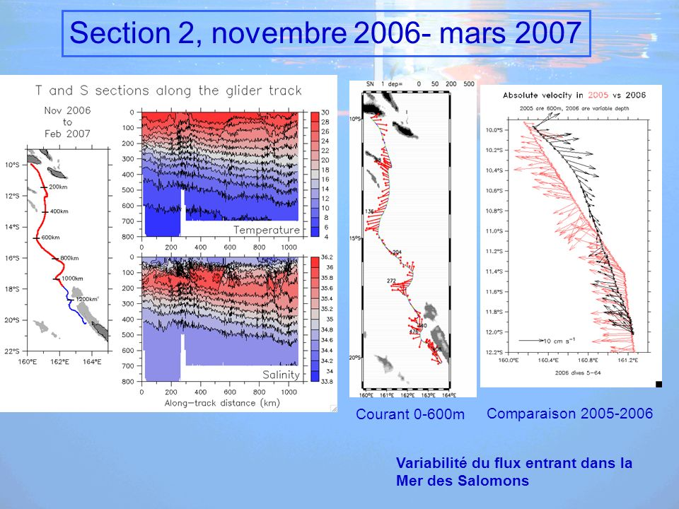 Section 2, novembre 2006- mars 2007