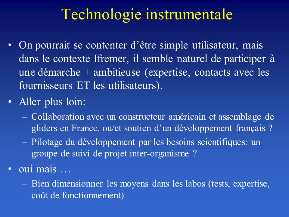 Technologie instrumentale