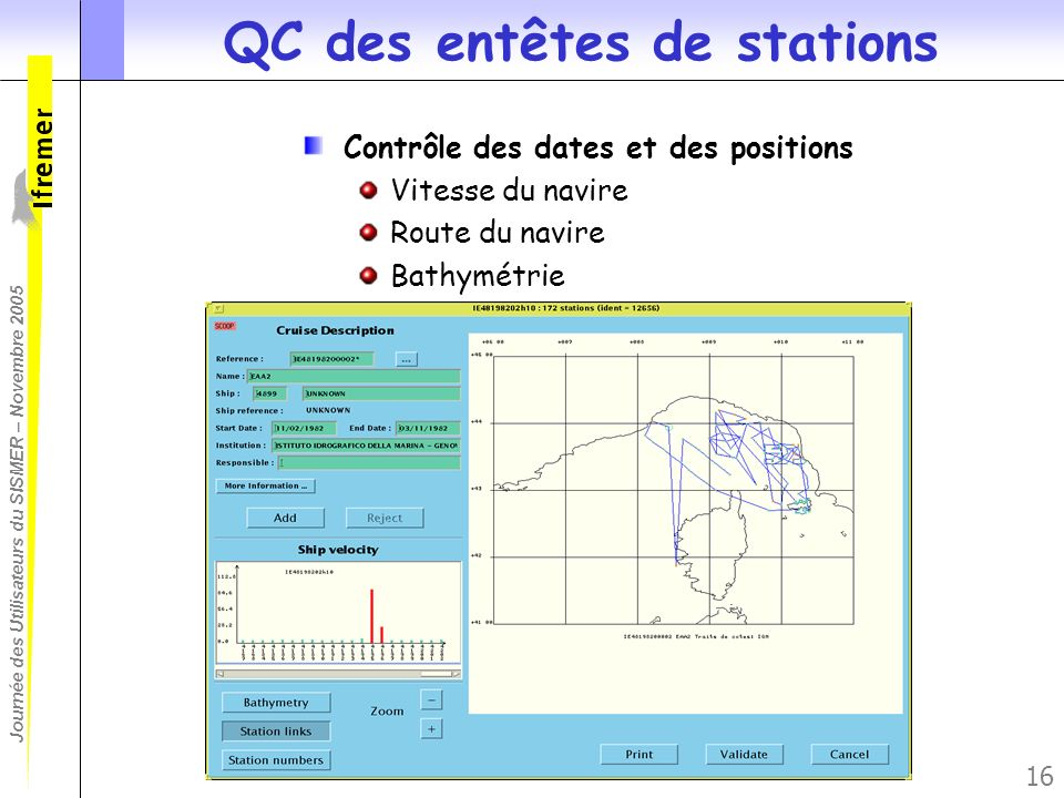 QC des entêtes de stations