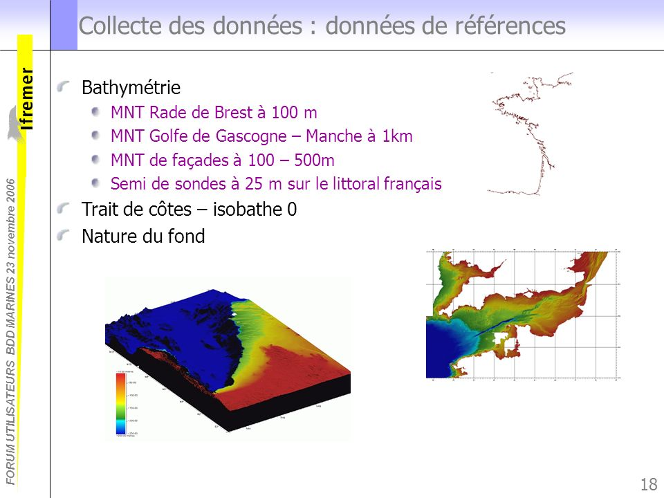 Collecte des données : données de références