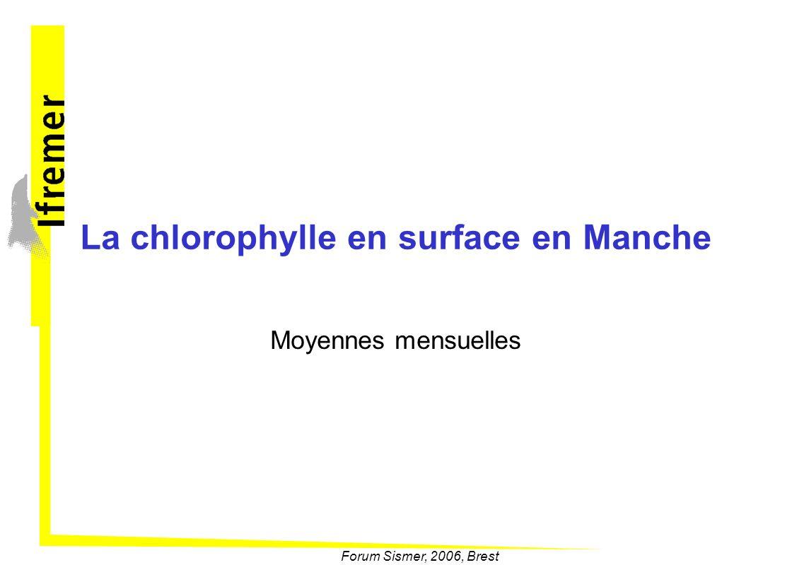 La chlorophylle en surface en Manche