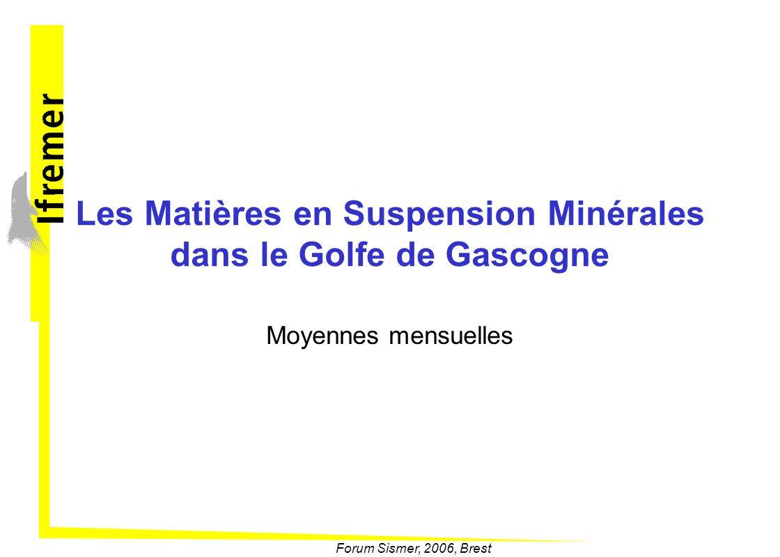 Les Matières en Suspension Minérales dans le Golfe de Gascogne