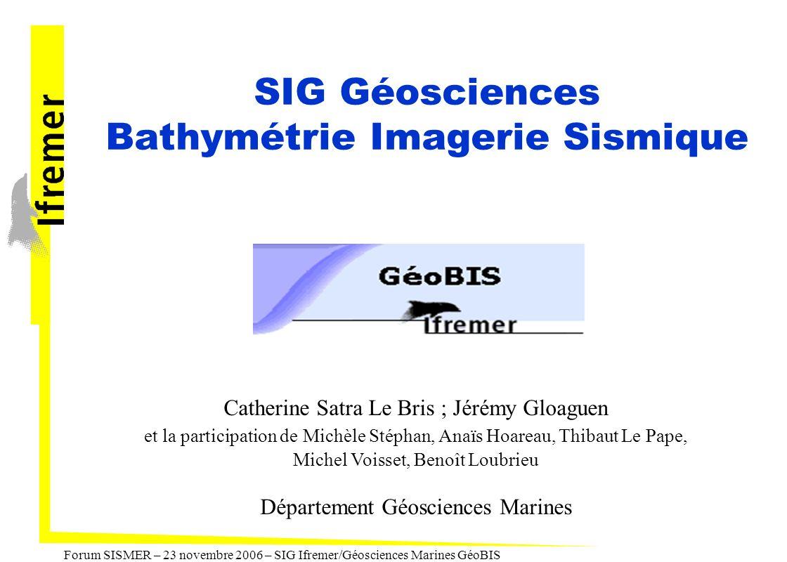 SIG Géosciences Bathymétrie Imagerie Sismique