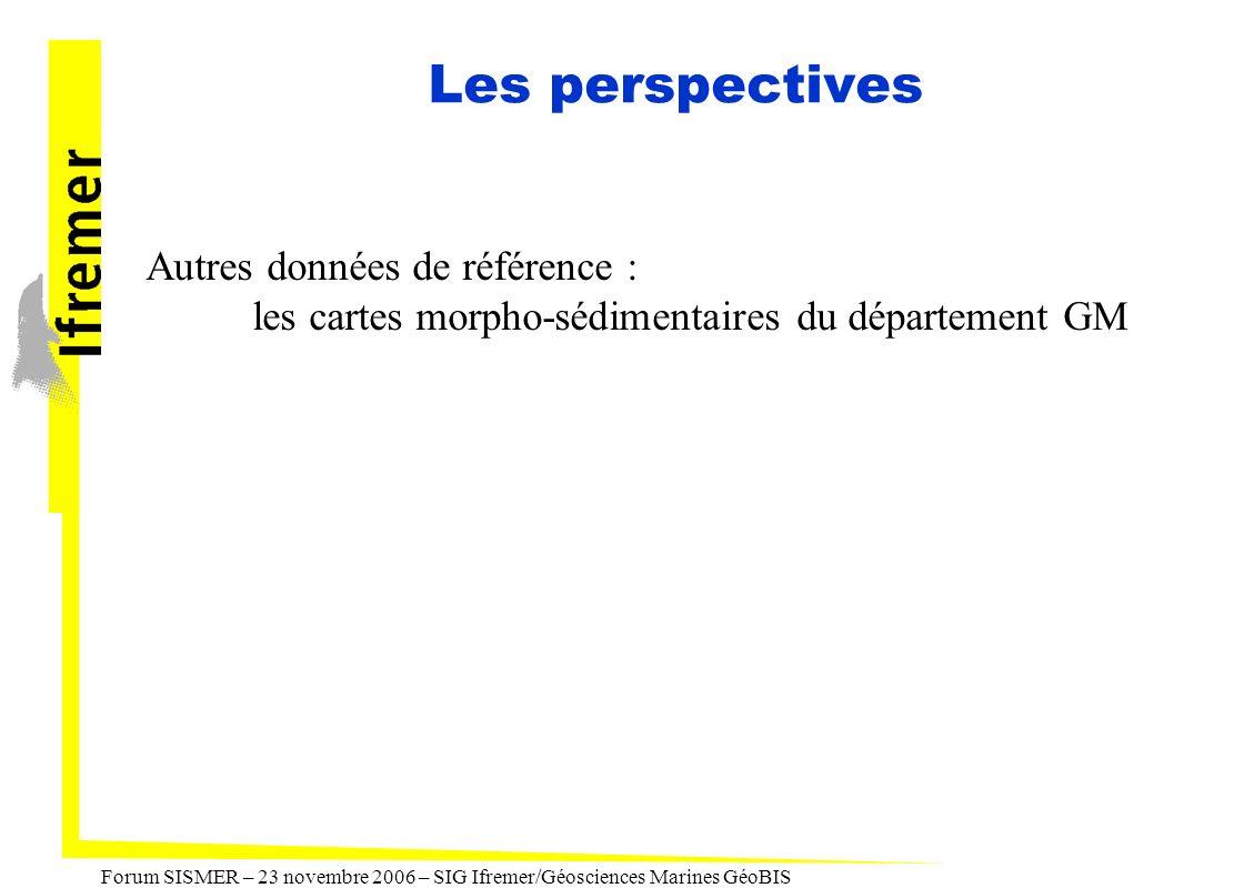 Les perspectives Autres données de référence :