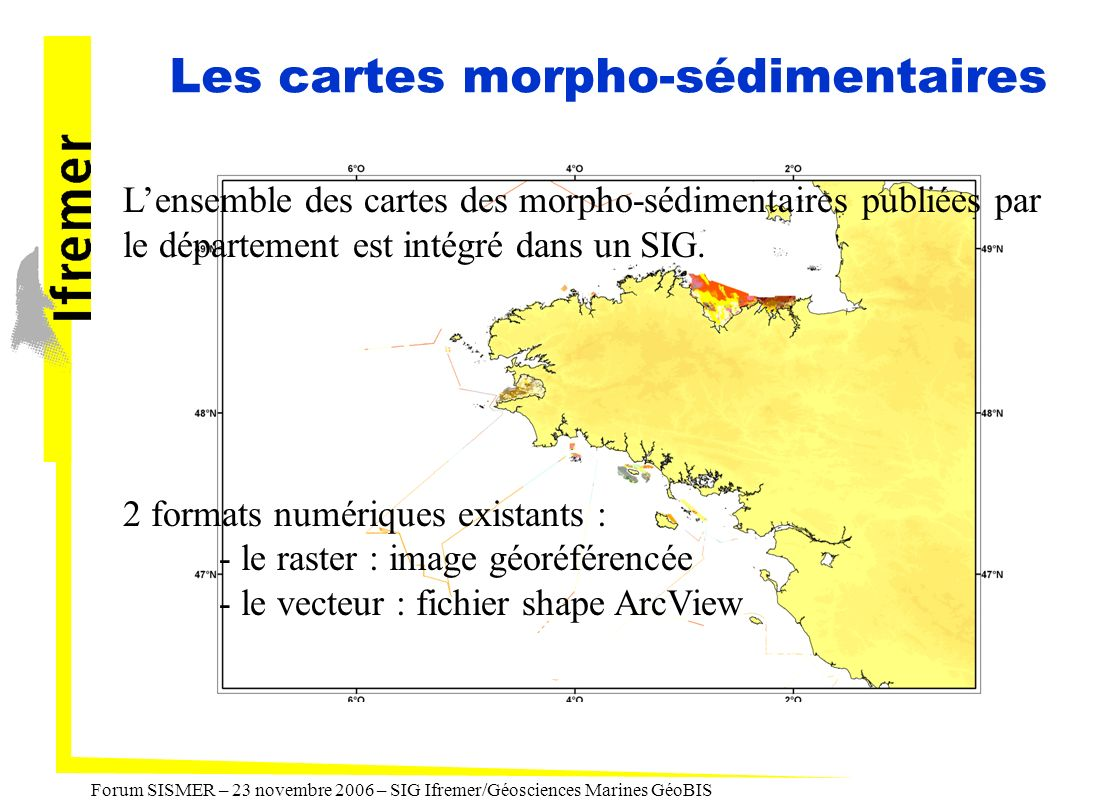 Les cartes morpho-sédimentaires