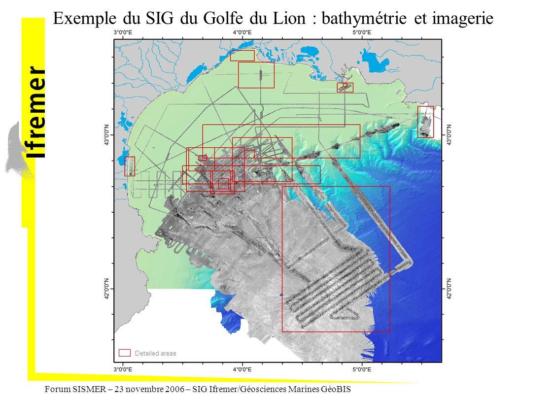 Exemple du SIG du Golfe du Lion : bathymétrie et imagerie