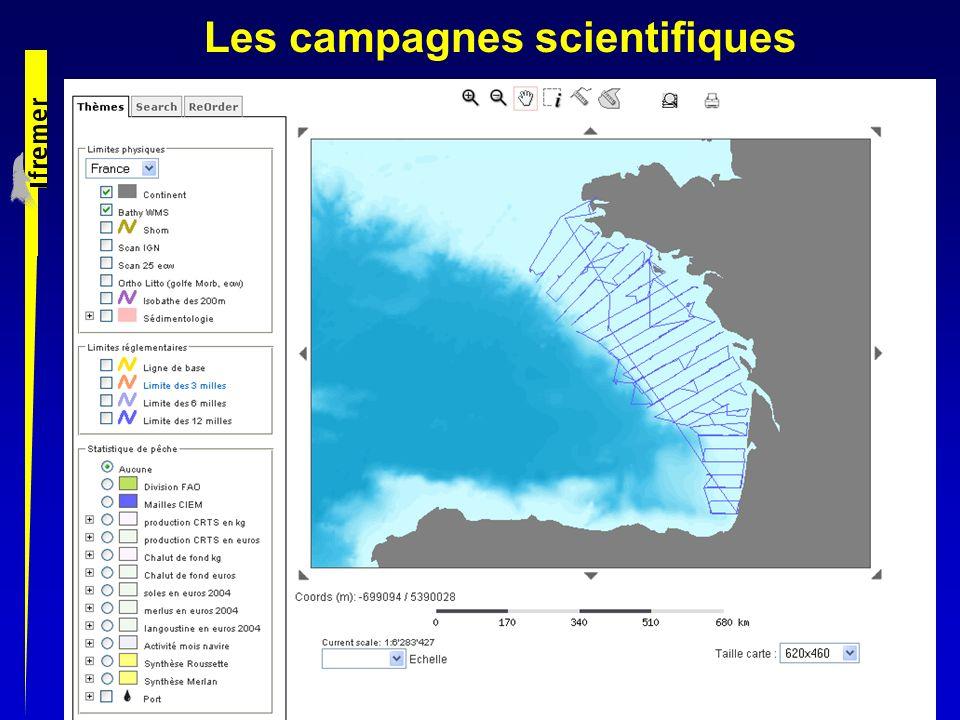 Les campagnes scientifiques