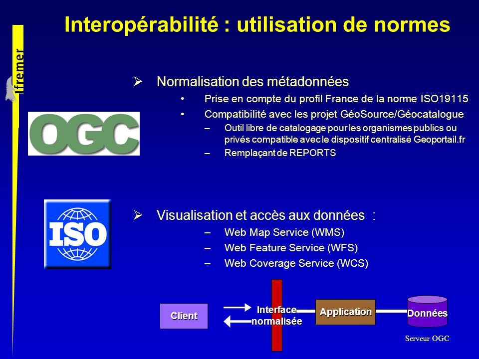 Interopérabilité : utilisation de normes