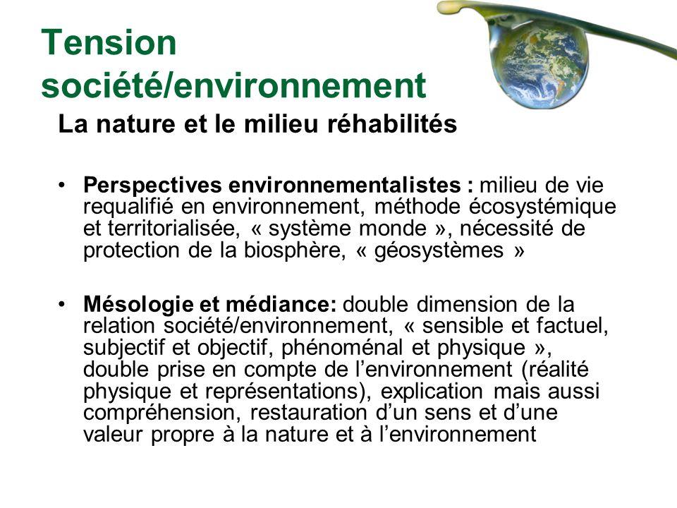 Tension société/environnement