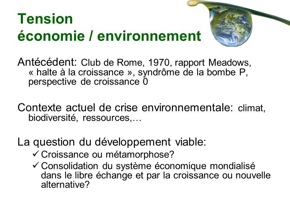 Tension économie / environnement