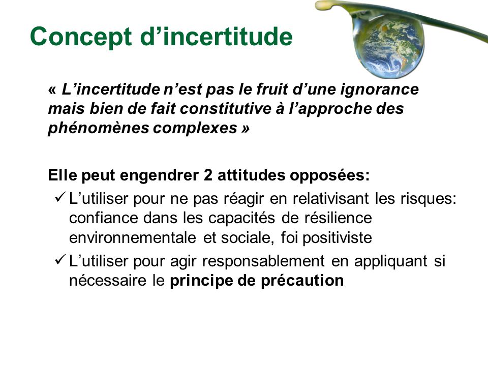 Concept d'incertitude