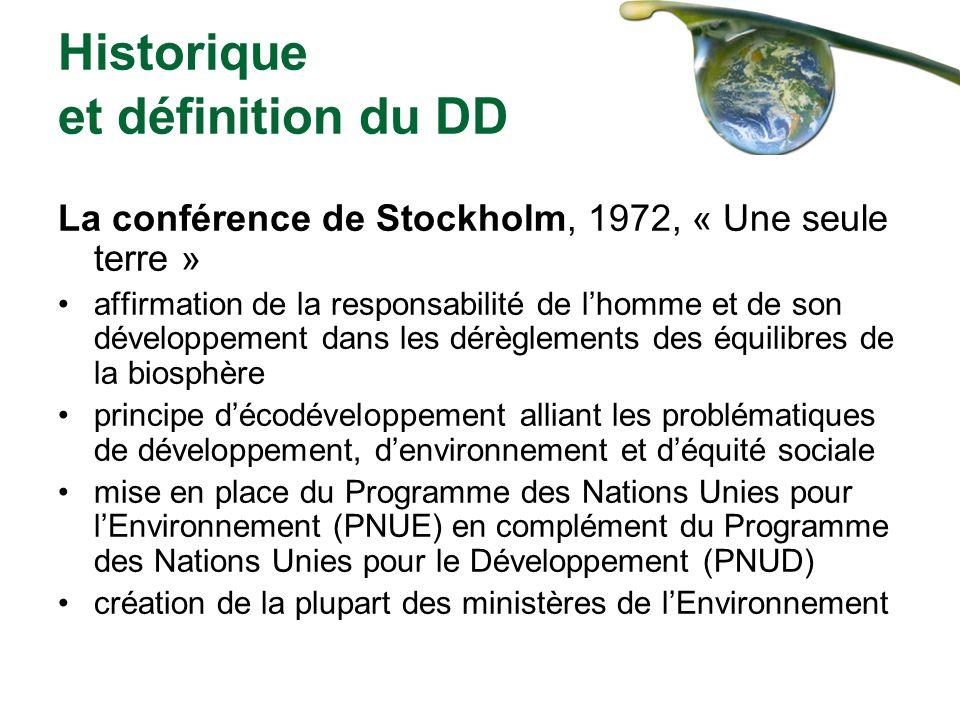 Historique et définition du DD