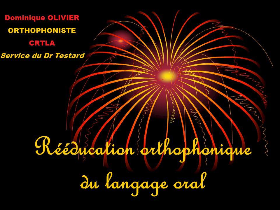 Rééducation orthophonique du langage oral