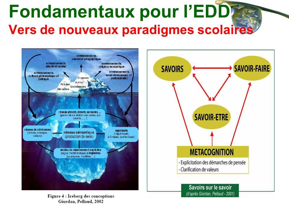 Fondamentaux pour l'EDD Vers de nouveaux paradigmes scolaires