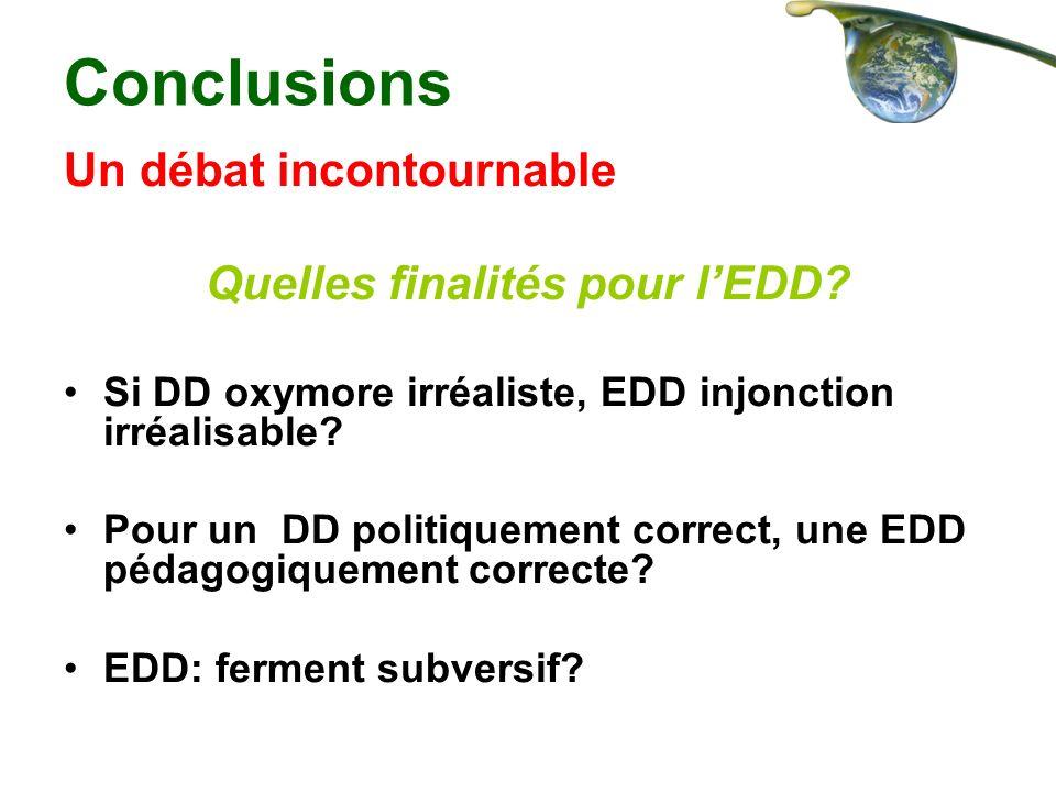 Quelles finalités pour l'EDD