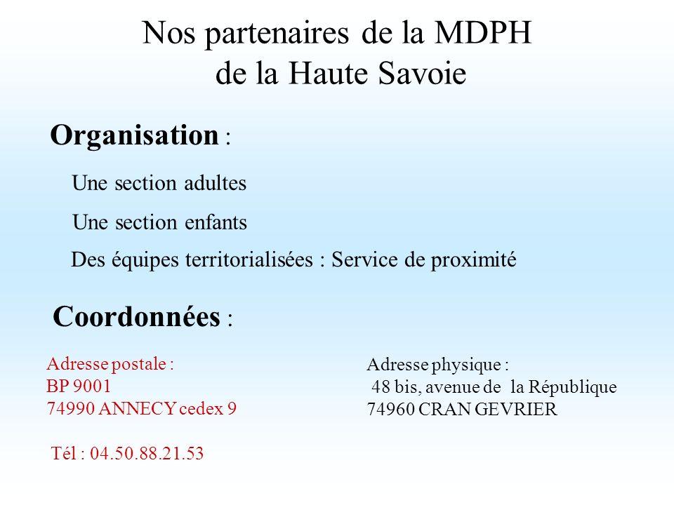 Nos partenaires de la MDPH de la Haute Savoie