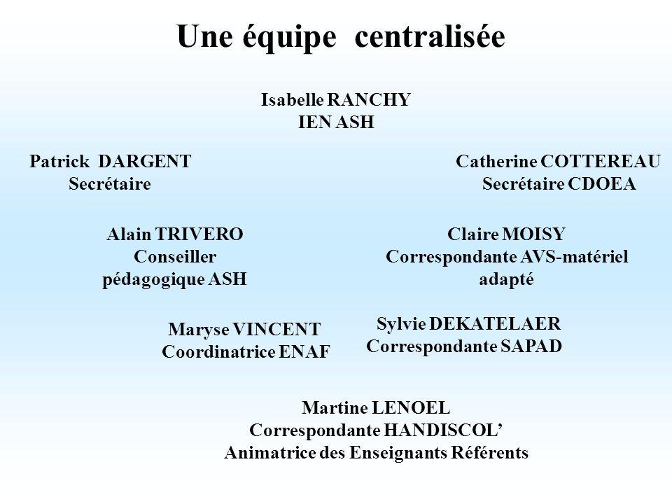 Une équipe centralisée
