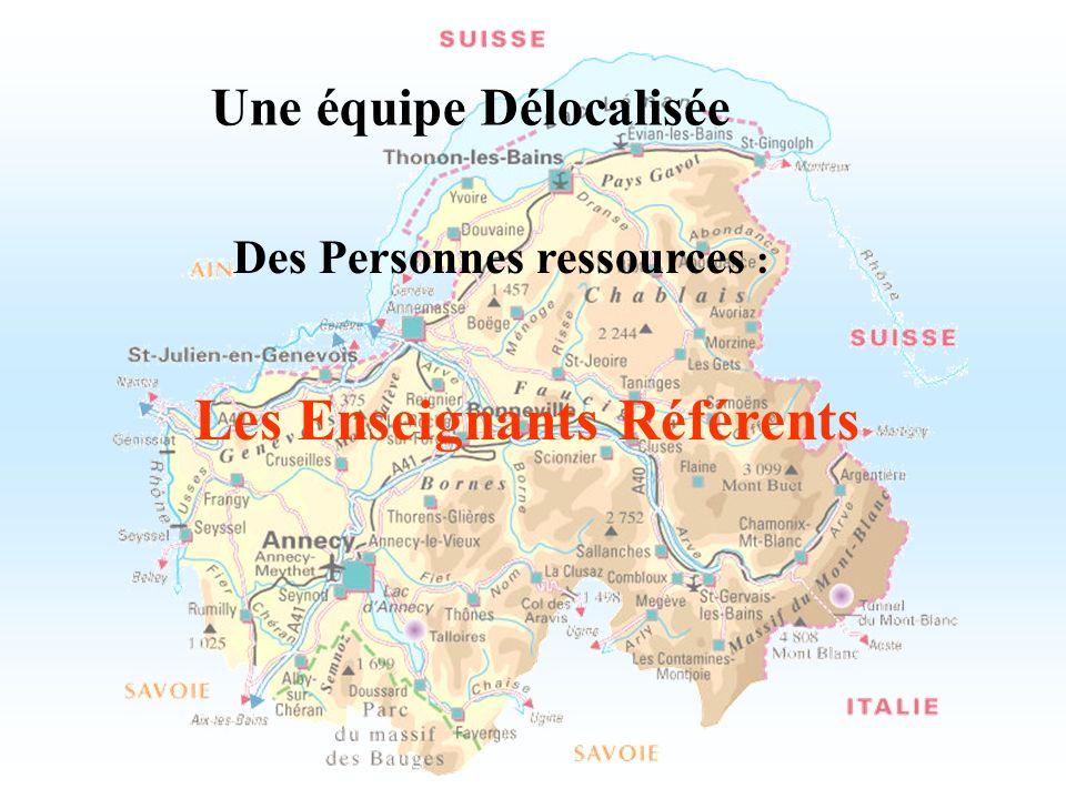 Une équipe Délocalisée Des Personnes ressources :