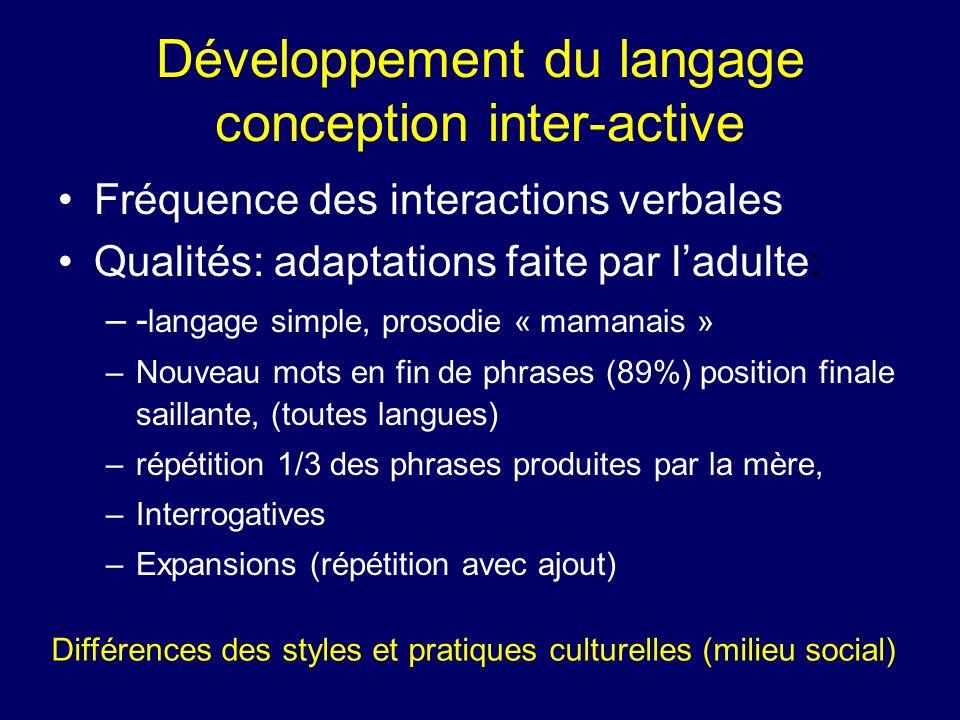 Développement du langage conception inter-active