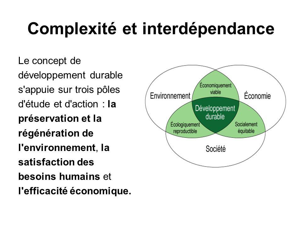 Complexité et interdépendance