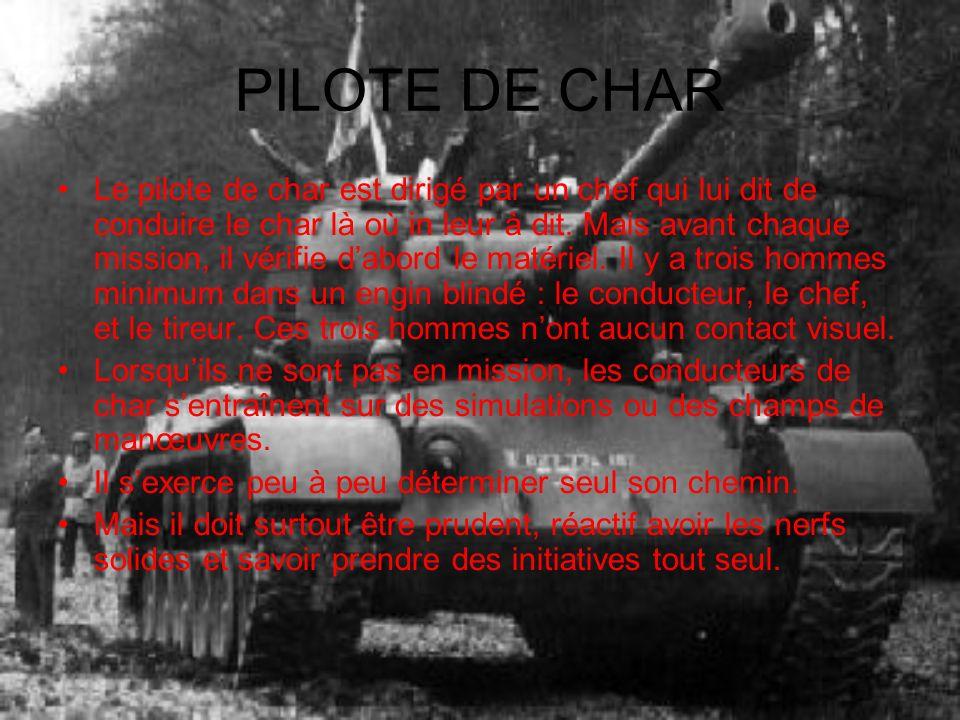 PILOTE DE CHAR