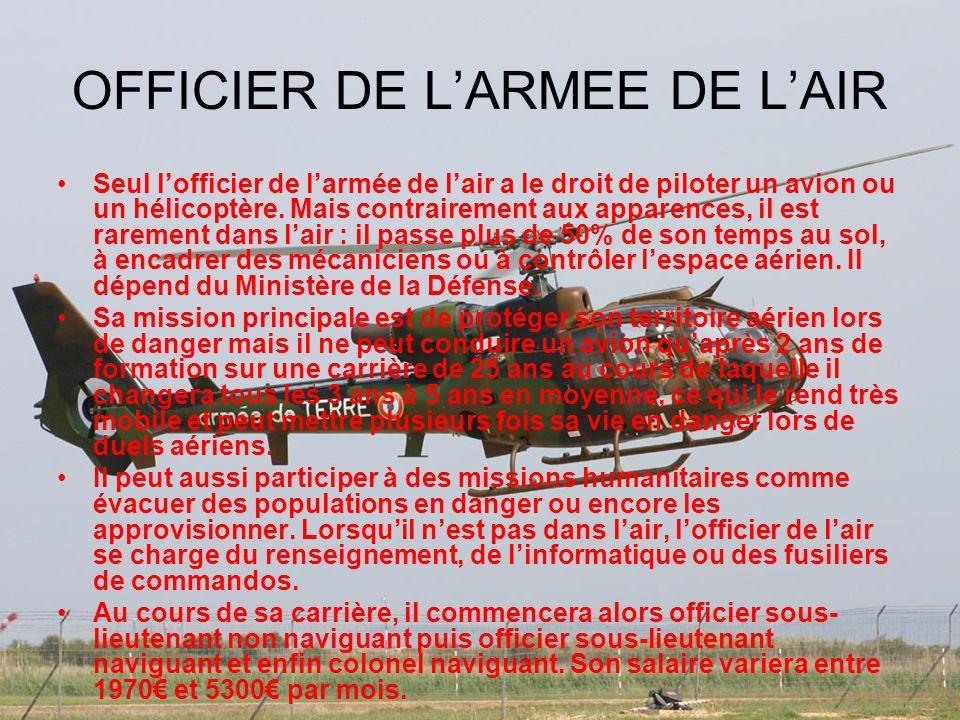 OFFICIER DE L'ARMEE DE L'AIR
