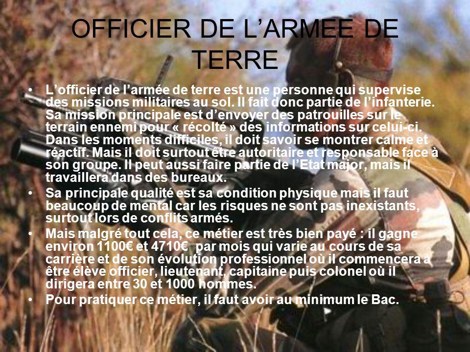 OFFICIER DE L'ARMEE DE TERRE