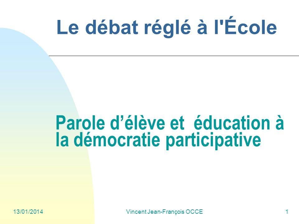Parole d'élève et éducation à la démocratie participative